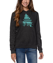 Casual Industrees El Johnny Tree Women's Charcoal Pullover Hoodie