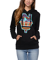 Casual Industrees El N Dub Girls Black Pullover Hoodie