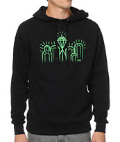 Casual Industrees Emerald City Black & Green Pullover Hoodie