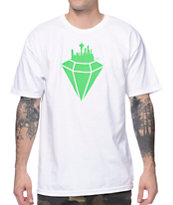 Casual Industrees Emerald City White Tee Shirt