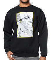 Casual Industrees High 5 Black Crew Neck Sweatshirt