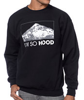 Casual Industrees I'm So Hood Black Crew Neck Sweatshirt