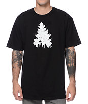Casual Industrees Johnny Tree Speckle Black Tee Shirt