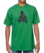 Casual Industrees Johnny Tree Speckle Green Tee Shirt