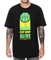 Casual Industrees Keep Hoop Alive Black Tee Shirt