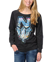 Casual Industrees N Dub  Charcoal Crew Neck Sweatshirt