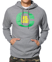Casual Industrees O Logo Heather Grey Pullover Hoodie