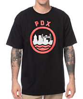 Casual Industrees PDX Red & Black Tee Shirt