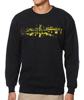 Casual Industrees Portland Lights Black Crew Neck Sweatshirt