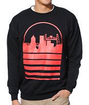 Casual Industrees Portland Skyline Black Crew Neck Sweatshirt