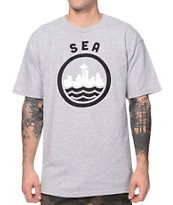 Casual Industrees SEA Grey & Black Tee Shirt