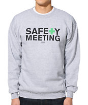 Casual Industrees Safety Meeting Grey Crew Neck Sweatshirt