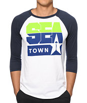 Casual Industrees Sea Town Baseball Tee Shirt