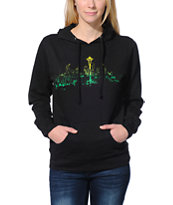 Casual Industrees Seattle Lights Fade Black Pullover Hoodie