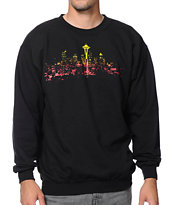 Casual Industrees Seattle Lights Fade Crew Neck Sweatshirt