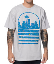 Casual Industrees Seattle Sky Grey & Blue Ice Speckle Tee Shirt