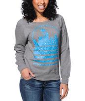 Casual Industrees Seattle Sky Speckle Grey Crew Neck Sweatshirt