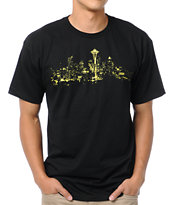 Casual Industrees Sky Light Black Tee Shirt