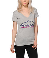 Casual Industrees Tap The Mountain Fade V-Neck T-Shirt