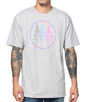 Casual Industrees Tree Lines Grey Tee Shirt