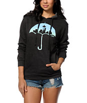 Casual Industrees Umbrella Fade Charcoal Pullover Hoodie
