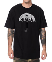Casual Industrees Umbrella Rain Black Tee Shirt