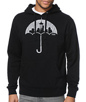 Casual Industrees Umbrella Rain Camo Black Pullover Hoodie