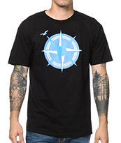 Casual Industrees WA Compass Black Tee Shirt