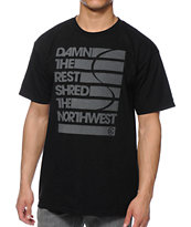 Casual Industrees WA Damn The Rest Black Tee Shirt