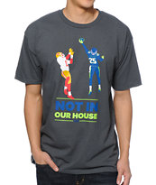 Casual Industrees WA Not In Our House Charcoal Tee Shirt