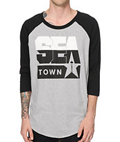 Casual Industrees WA Sea Town Baseball T-Shirt