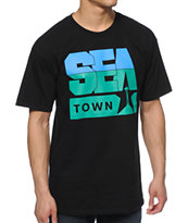 Casual Industrees WA Seatown Black T-Shirt