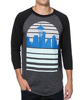 Casual Industrees WA Seattle Skyline Baseball T-Shirt