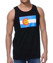 Casual Industress Co Flag Black Tank Top