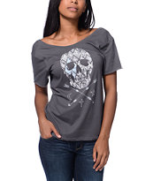 Cea+Jae The Other Side Charcoal Scoop Neck Tee Shirt