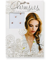 Charmsies Rose Gold Hearts Hair Charms