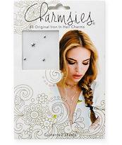 Charmsies Silver Stars Hair Charms