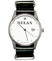 Cheapo Relax Leather Analog Watch