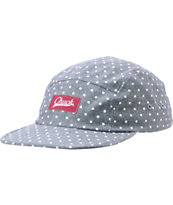 Chuck Originals Spotted Blue Polka Dot Camper 5 Panel Hat