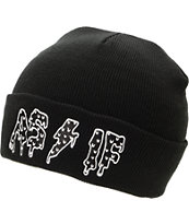 Civil Been As If Black Fold Beanie