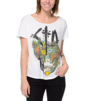 Civil CTD Skull White Scoop Neck Tee Shirt