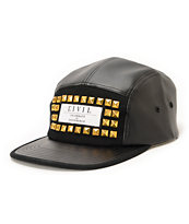 Civil Dom Black Studded 5 Panel Hat