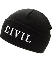 Civil Girls Trap Black Fold Beanie
