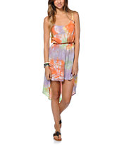 Civil Girls Wake Up Orange Tie Dye Dress