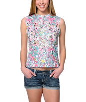 Civil Jacksons Multicolor Splatter Muscle Tee Shirt