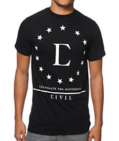 Civil Star Black Tee Shirt