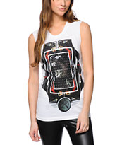 Civil Women's Doberman White Muscle Tee Shirt