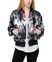 Civil Women's Geo Wolf Grey Bomber Jacket