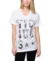 Civil Women's Vicious 3.1 White Boyfriend Fit Tee Shirt