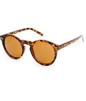 Classic Round Keyhole Tortoise Sunglasses